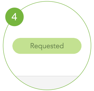 """A message that says: """"Requested"""""""